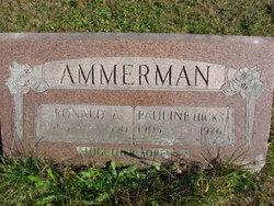 Pauline Nancy <i>Hicks</i> Ammerman