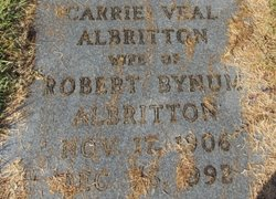 Carrie <i>Veal</i> Albritton