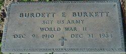 Sgt Burdett E. Burkett