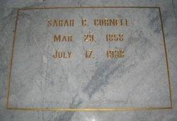 Sarah A <i>Crawford</i> Cornell