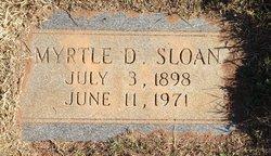 Myrtle D Sloan