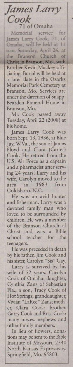 James Larry Cook