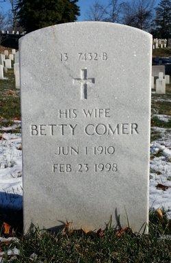 Betty <i>Comer</i> Burgin