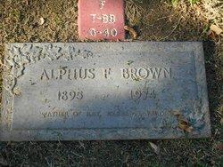 Alphus Franklin Brown