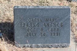 Catha Mary <i>Parks</i> Anthes