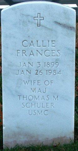 Callie Frances Schuler