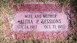 Altha S <i>Parker</i> Sessions