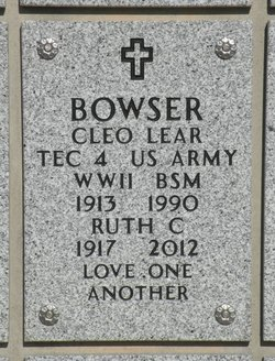 Ruth Christine <i>Comstock</i> Bowser,