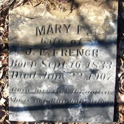 Mary Frances <i>Byars</i> Bedford French