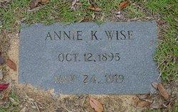 Frances Karuth Annie <i>Wise</i> Wise