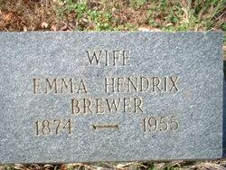 Emma <i>Hendrix</i> Brewer