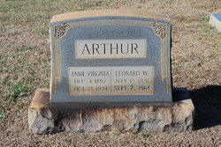 Annie Virginia <i>Warren</i> Arthur
