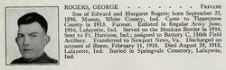 Pvt George Thomas Rogers