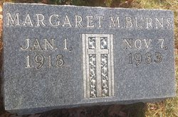 Margaret M <i>Ogborne</i> Burns
