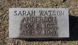 Sarah Jane Sallie <i>Watson</i> Anderson