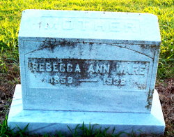 Rebecca Ann <i>Hagan</i> Ware