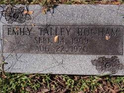 Emily Elizabeth <i>Talley</i> Bonham