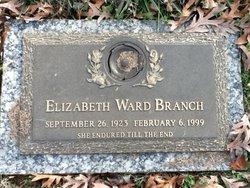 Elizabeth Frances <i>Ward</i> Branch