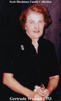 Gertrude W <i>Blackman</i> Angst Olson