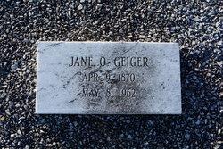 Jane O. Geiger