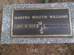 Martha Jane Janie <i>Boleyn</i> Williams