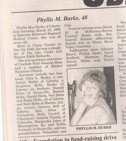 Phyllis Mae <i>Helm</i> Burke