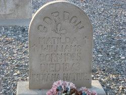 Matilda <i>Williams</i> Gordon