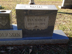 Eva <i>Nance</i> Anderson