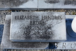 Elizabeth <i>Hendrix</i> Brown