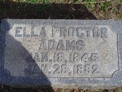Ella <i>Proctor</i> Adams