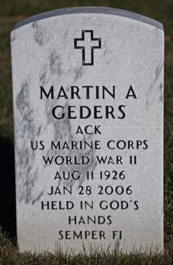 Martin A Geders