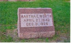 Martha E <i>Worth</i> Worth