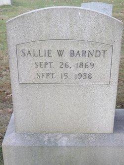 Sarah W. Sallie <i>Benner</i> Barndt