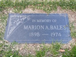 Marion A. Bales