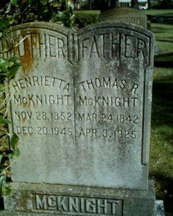Henrietta <i>Cook</i> McKnight