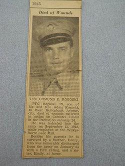 PFC Edmund R Rogoski