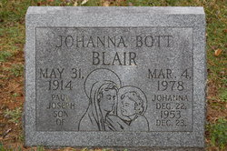 Johanna Maria Jodie <i>Bott</i> Blair