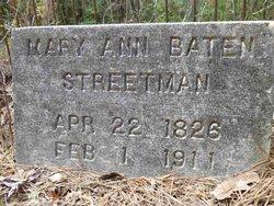 Mary Ann <i>Baten</i> Streetman