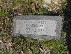 Betty S <i>Webb</i> Holtzclaw