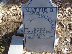 Martha B. <i>Rogers</i> Beckham