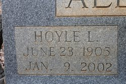 Hoyle Leonard Allred
