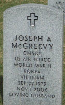 Joseph A McGreevy