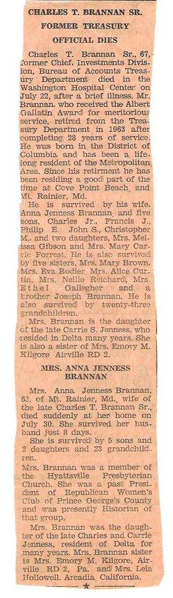Anna Mary <i>Jenness</i> Brannan