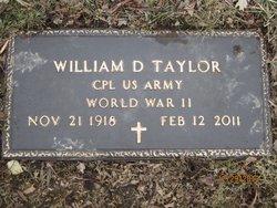 William DeWayne Bill Taylor