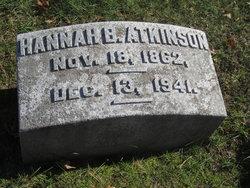 Hannah B <i>Brown</i> Atkinson