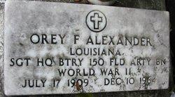 Sgt Orey F Alexander