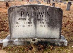 Mary J <i>Forrester</i> Baldwin