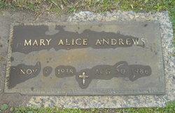 Mary Alice <i>Strickland</i> Andrews