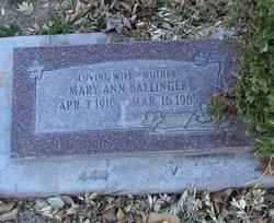 Mary Ann Ballinger