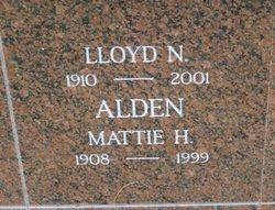 Mattie H Alden